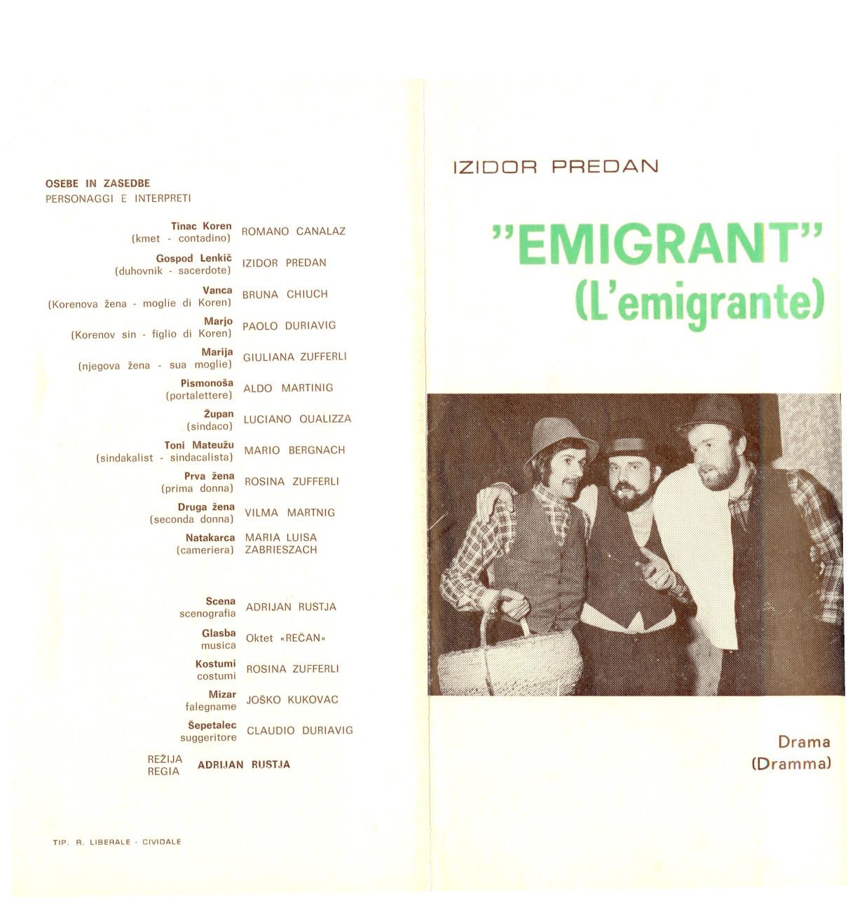 1977 - Emigrant - Vabilo 1