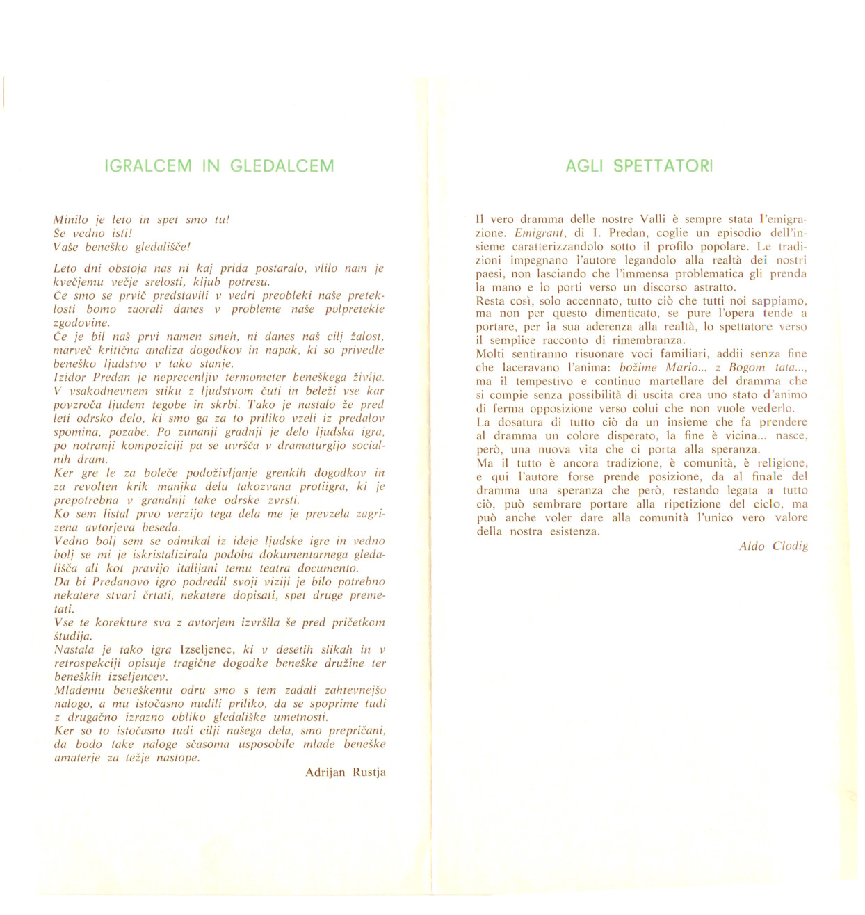 1977 - Emigrant - Vabilo 2