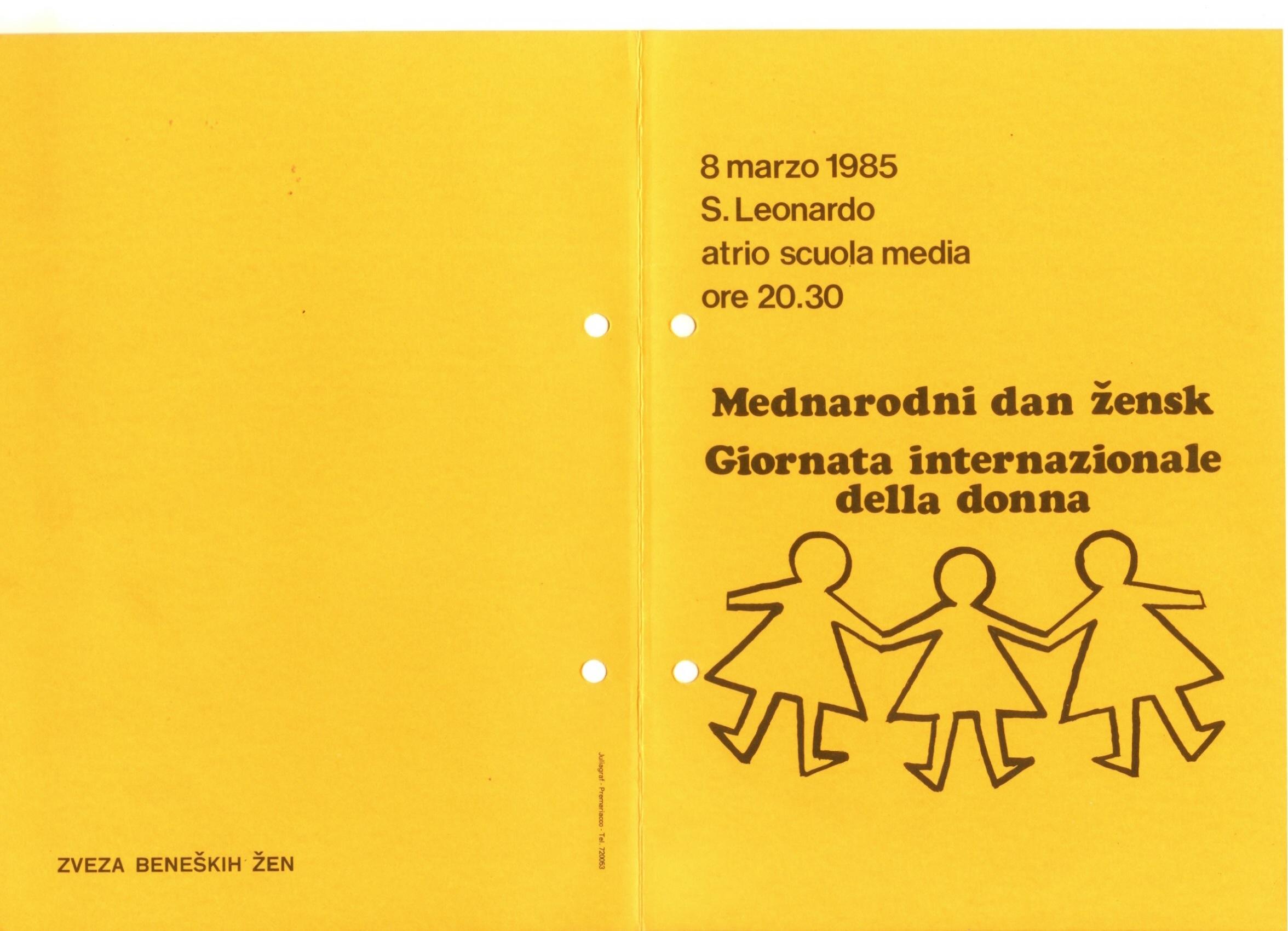 1985 -Vic ti na povien - Volantino 1