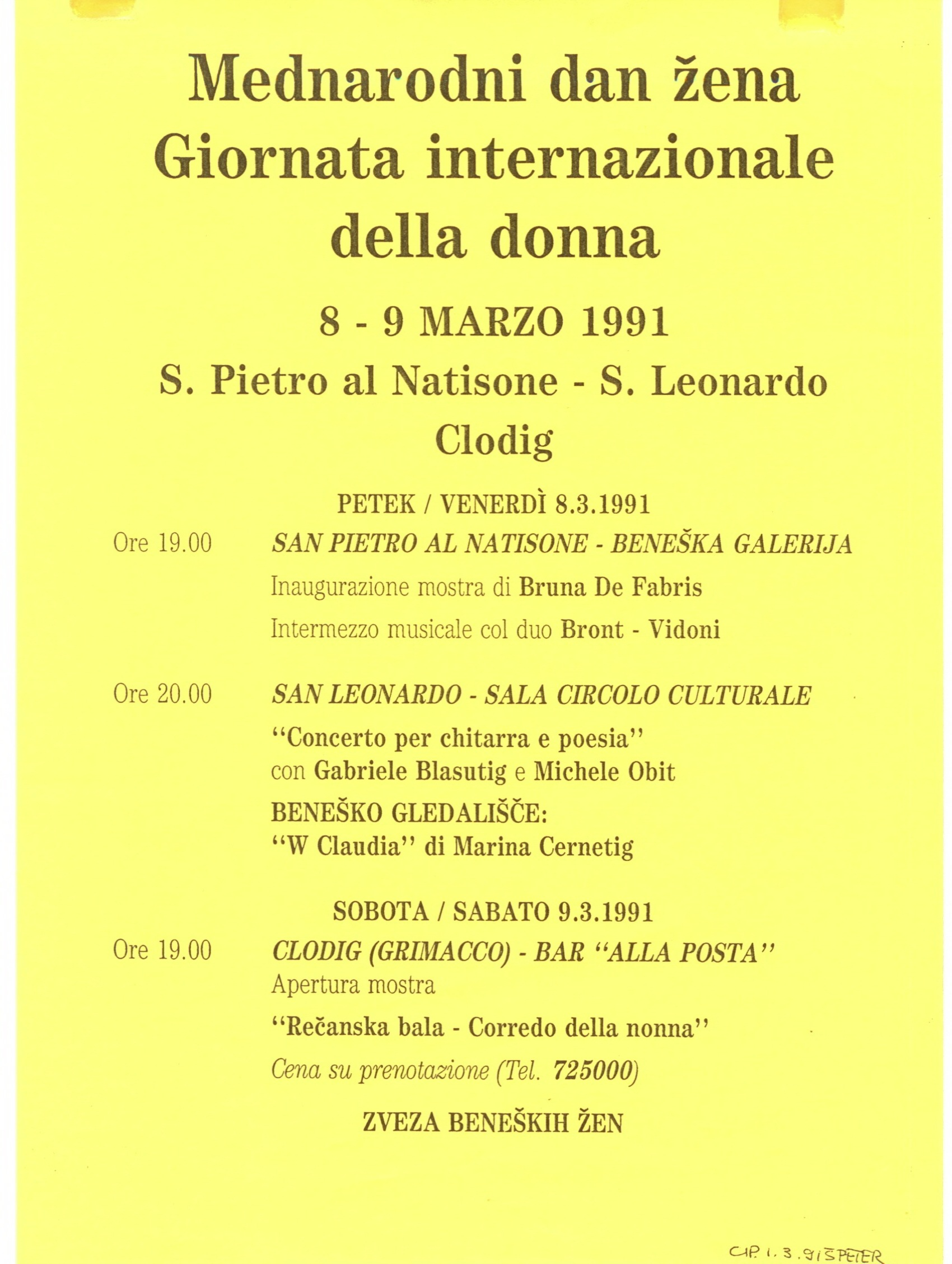 1991 - W Claudia! - Manifesto