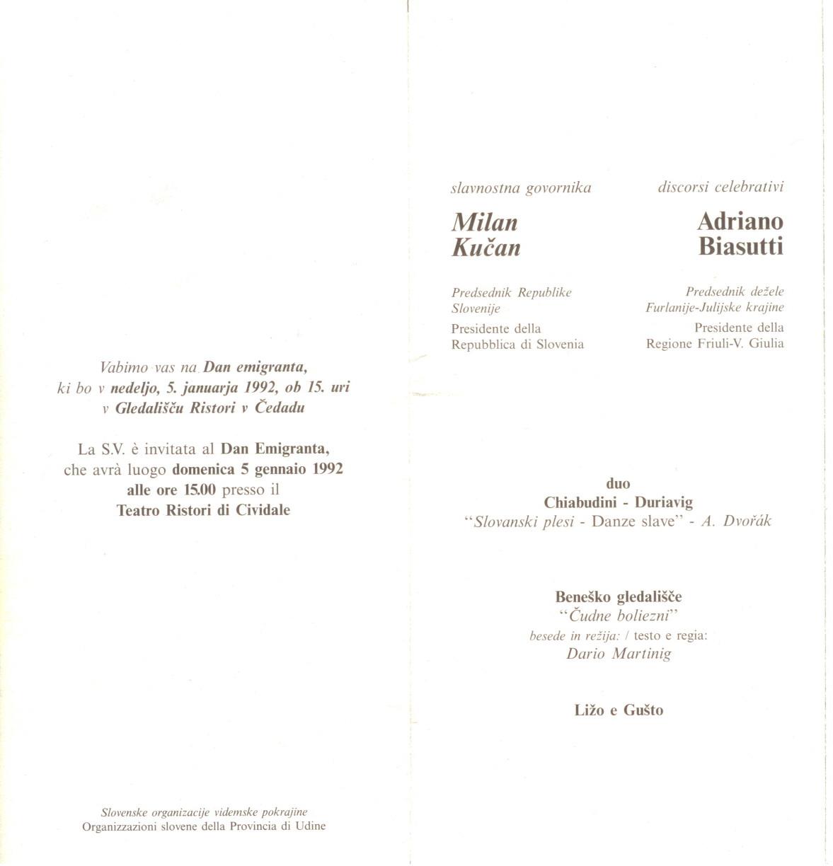 1992 - Čudne Boliezni - Vabilo 2