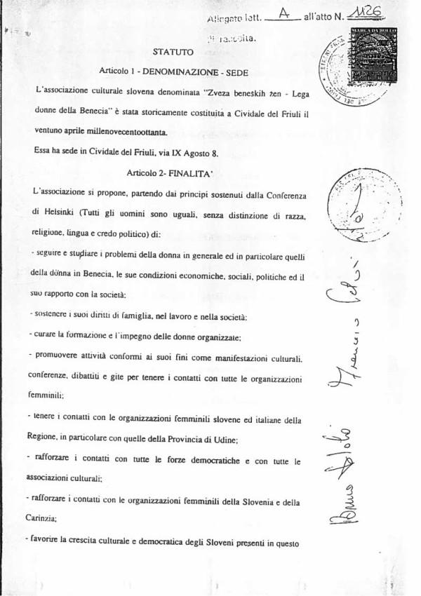 Statut bz 1