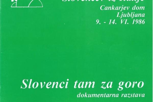 Slovenci tam za goro
