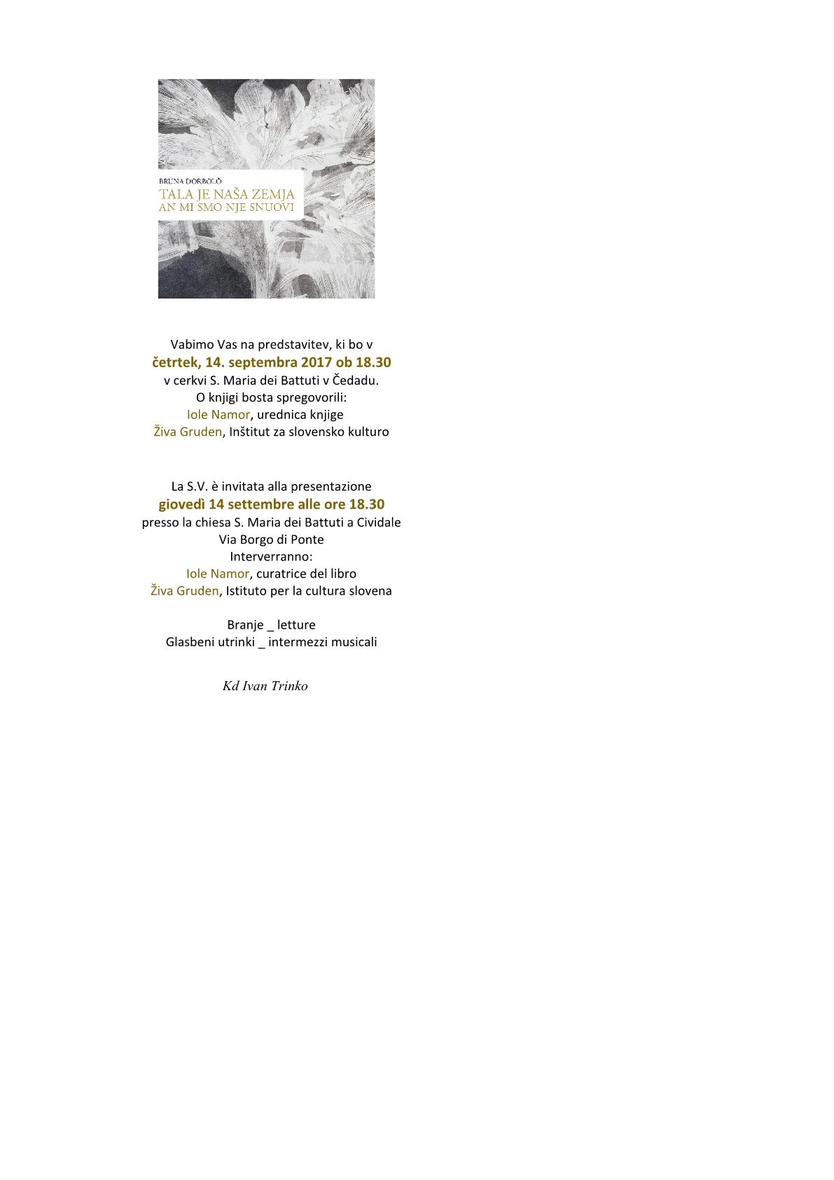 vabilo- invito knjiga Bruna1
