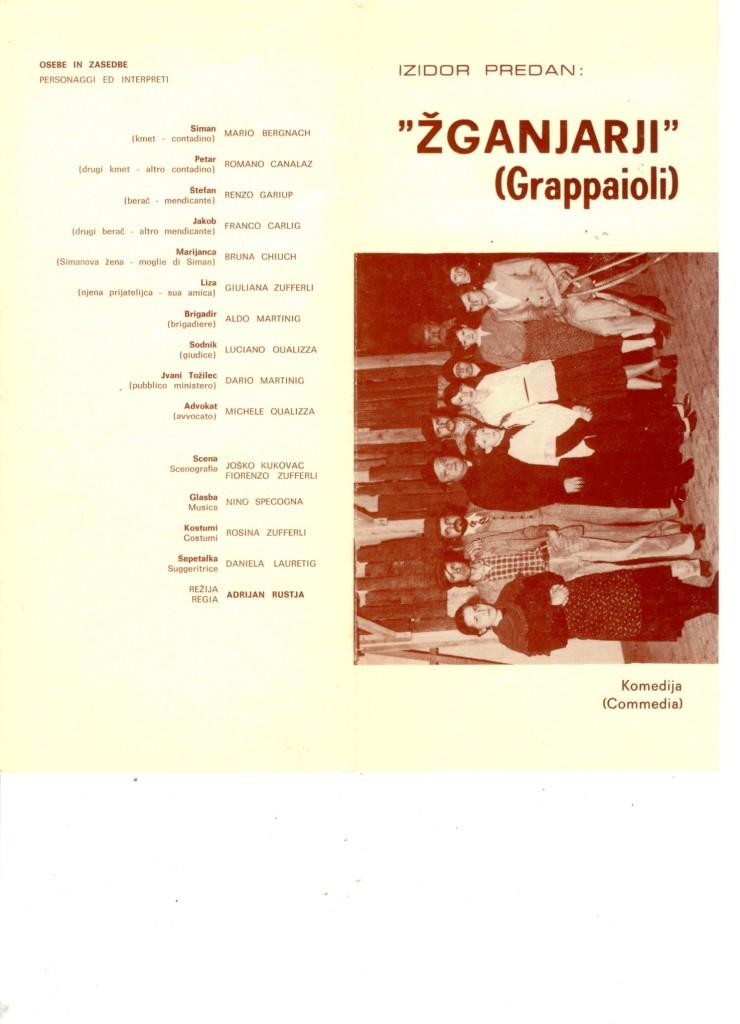 1978 - Zganjari - Foglio sala 1